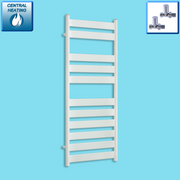 500mm Wide 1200mm High Heated Flat Panel Design Towel Rail Radiator White for Central Heating,Towel Rail Only