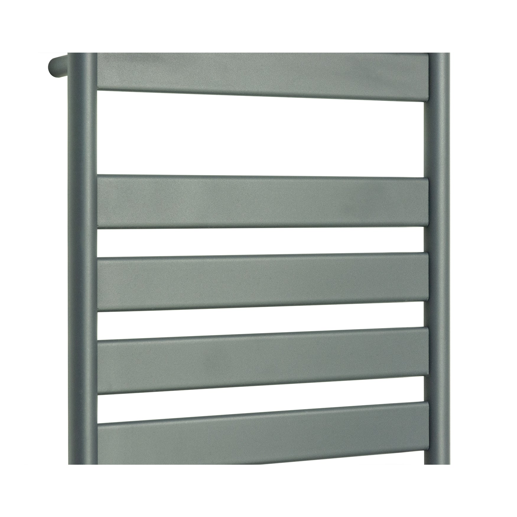 500mm Wide 800mm High Flat Panel Designer Anthracite Heated Towel Rail Radiator HTR
