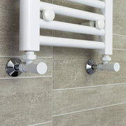800mm Wide 800mm High Flat White Heated Towel Rail Radiator HTR