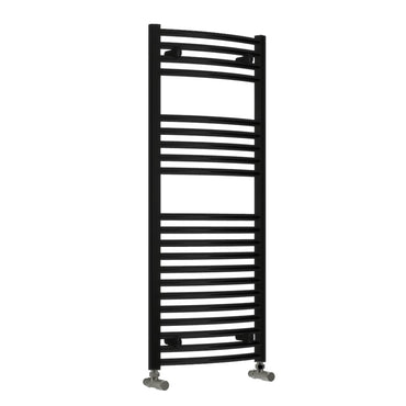 Reina Diva Designer Black Heated Towel Rail Radiator 25mm Tubes