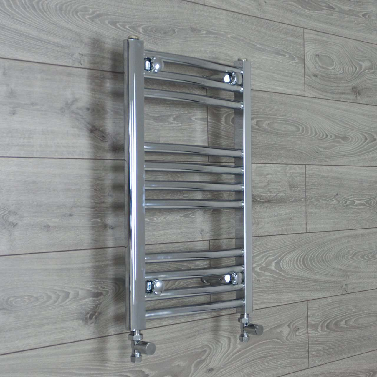 400mm Wide 600mm High Curved Chrome Heated Towel Rail Radiator HTR,With Straight Valve