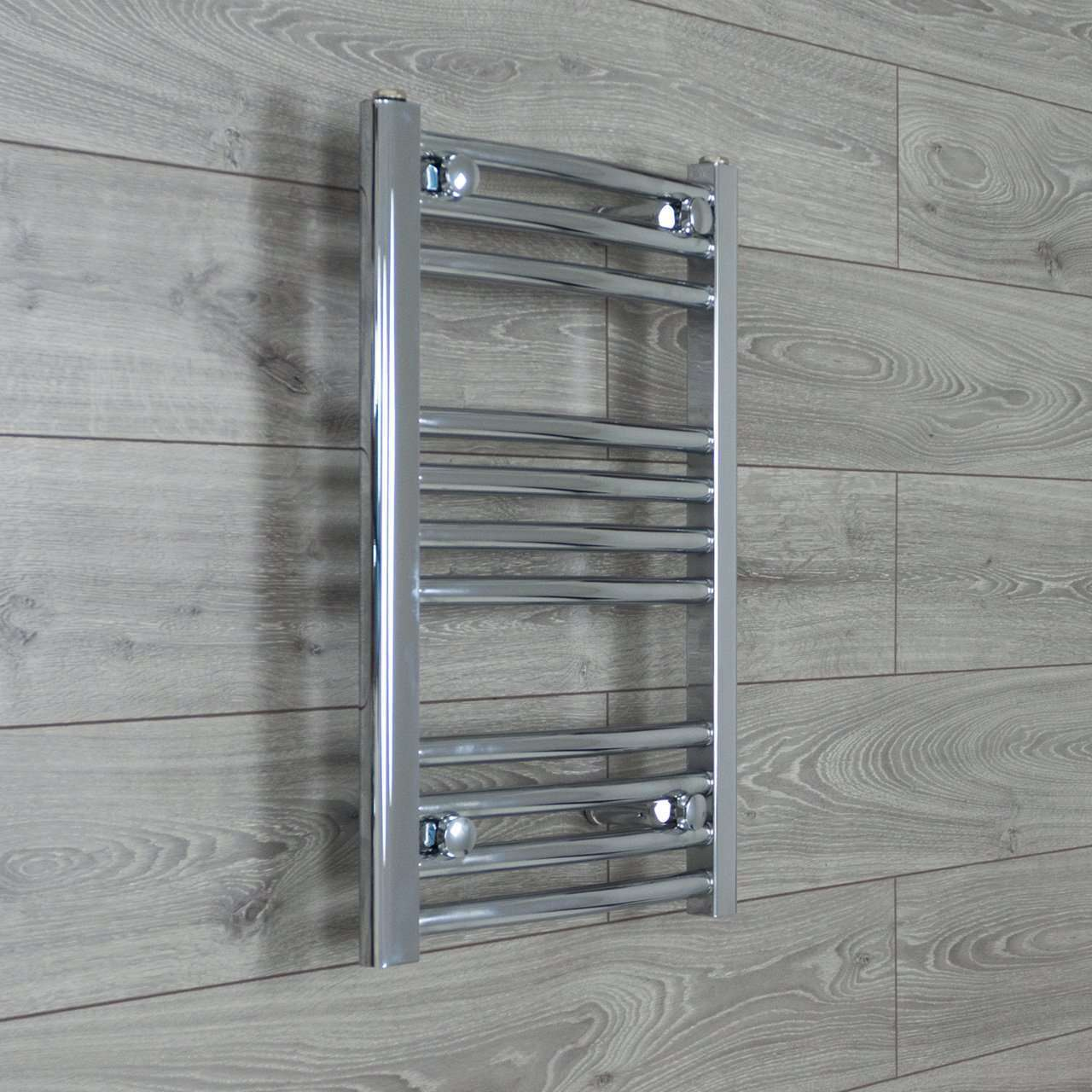 400mm Wide 600mm High Curved Chrome Heated Towel Rail Radiator HTR,Towel Rail Only