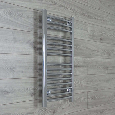 400mm Wide 800mm High Curved Chrome Heated Towel Rail Radiator HTR,Towel Rail Only