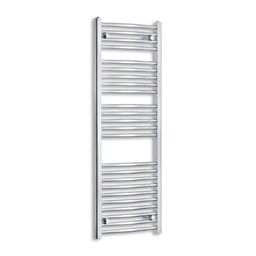 450mm Wide 1300mm High Curved Chrome Heated Towel Rail Radiator HTR,Towel Rail Only