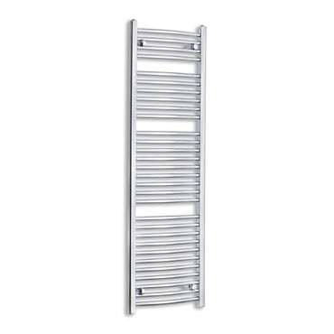 450mm Wide 1500mm High Curved Chrome Heated Towel Rail Radiator HTR,Towel Rail Only