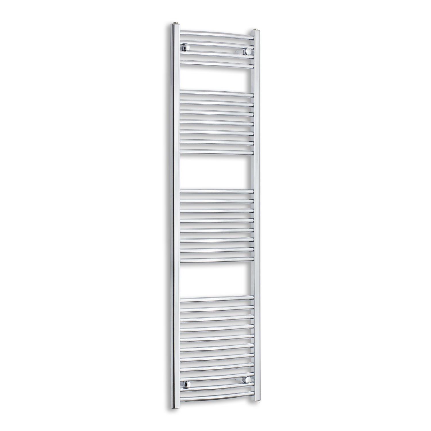 450mm Wide 1700mm High Curved Chrome Heated Towel Rail Radiator HTR,Towel Rail Only