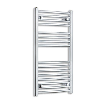450mm Wide 900mm High Curved Chrome Heated Towel Rail Radiator HTR,Towel Rail Only