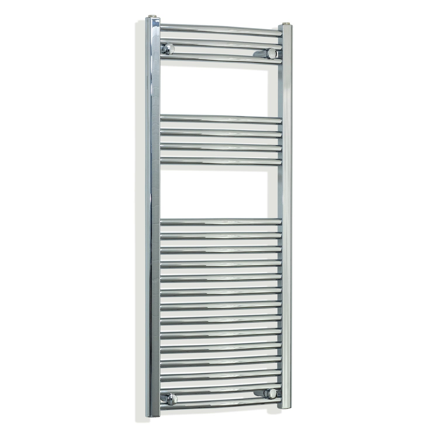 450mm Wide 1100mm High Curved Chrome Heated Towel Rail Radiator HTR,Towel Rail Only