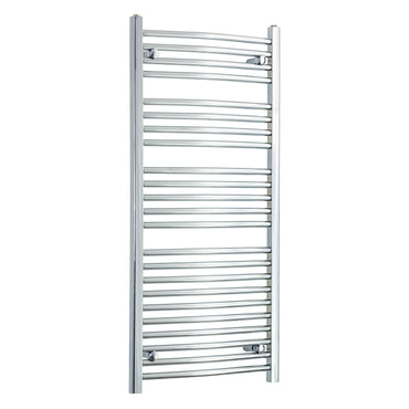 550 x 1200 Flat Chrome Heated Towel Rail Radiator Gas or Electric,Towel Rail Only