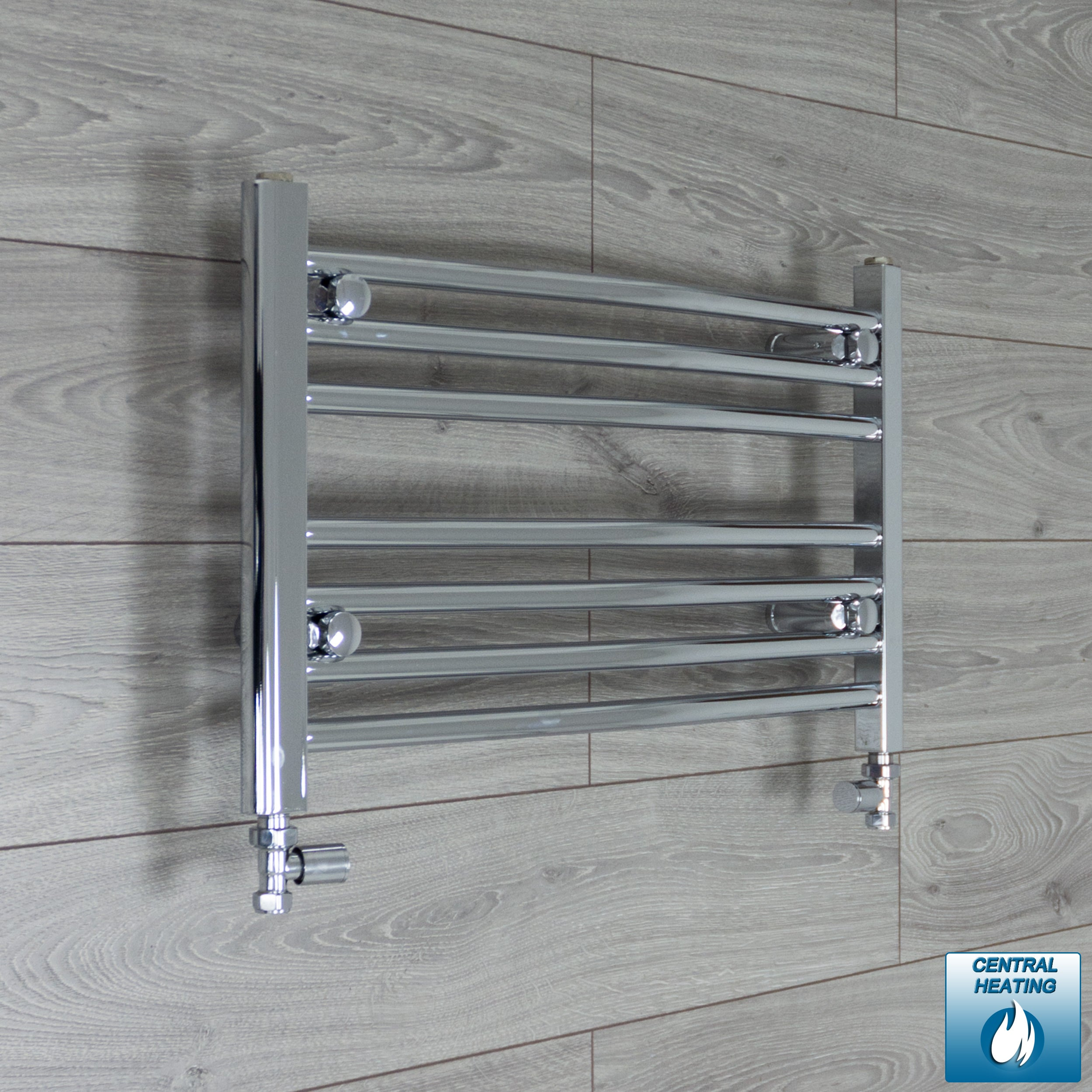 600mm Wide 400mm High Curved Chrome Heated Towel Rail Radiator HTR,With Straight Valve