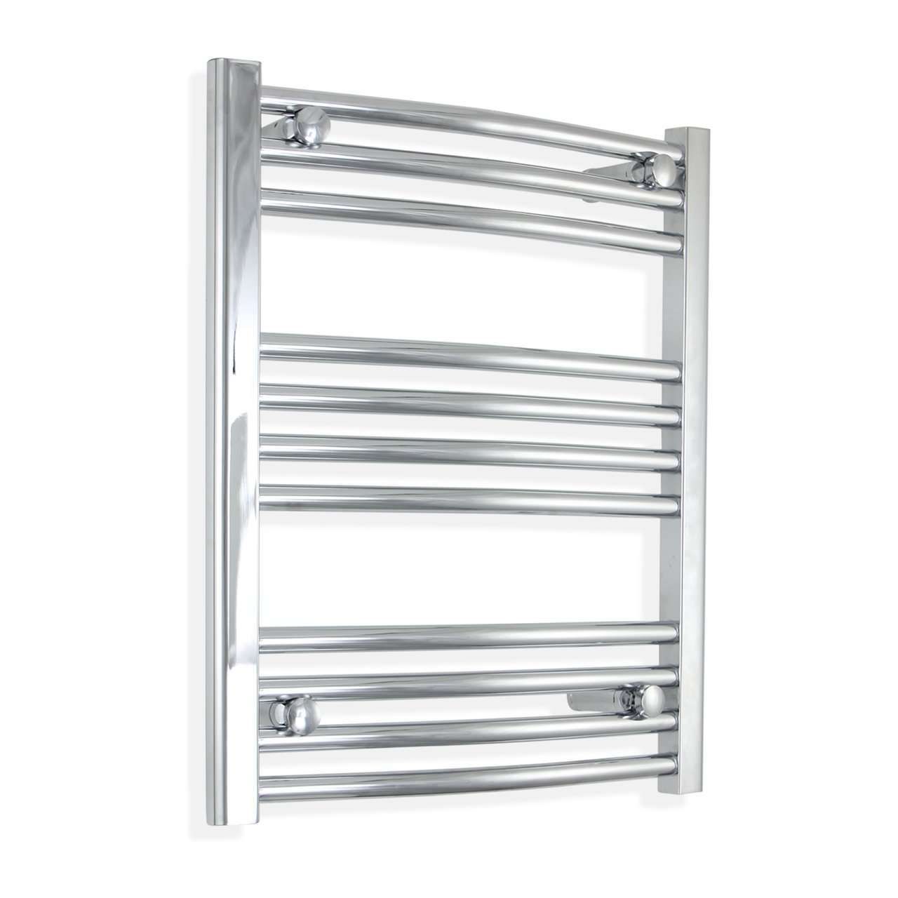 500mm Wide 600mm High Curved Chrome Heated Towel Rail Radiator HTR,Towel Rail Only