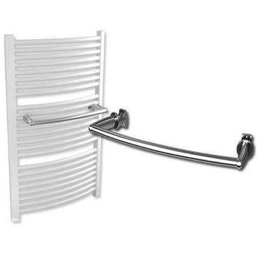 Extra Towel Bar For Curved Heated Towel Rail Radiators White / Chrome,400mm / Chrome