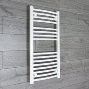 450mm Wide 900mm High Curved White Heated Towel Rail Radiator Gas or Electric,Towel Rail Only
