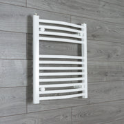 500mm Wide 600mm High Curved White Heated Towel Rail Radiator Gas or Electric,Towel Rail Only