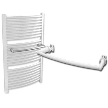 Extra Towel Bar For Curved Heated Towel Rail Radiators White / Chrome,400mm / White