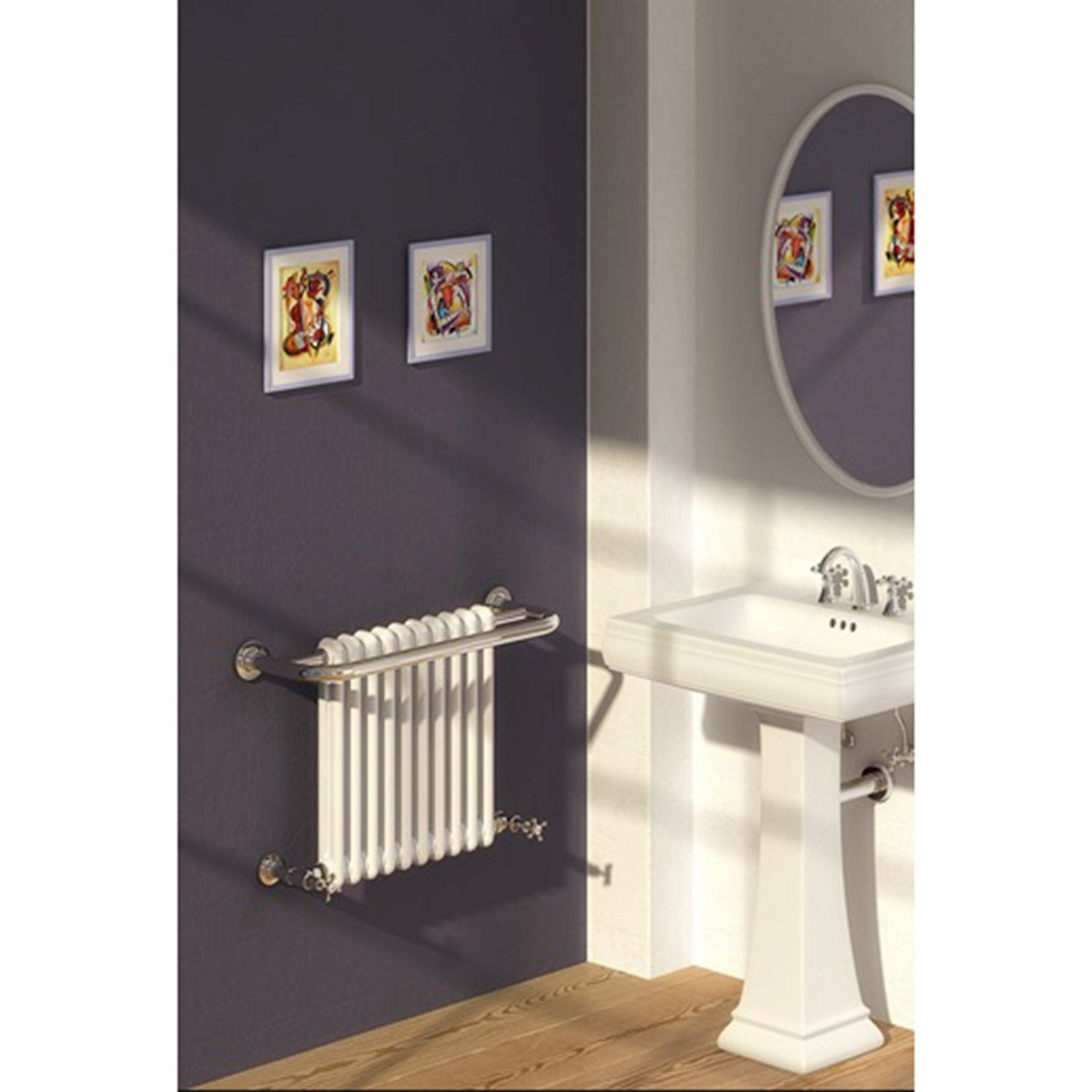 Reina Designer Camden Traditional Heated Towel Rail Radiator