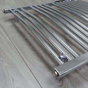 750mm Wide 800mm High Curved Chrome Heated Towel Rail Radiator HTR