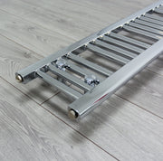 200mm Wide 1800mm High Flat Chrome Heated Towel Rail Radiator