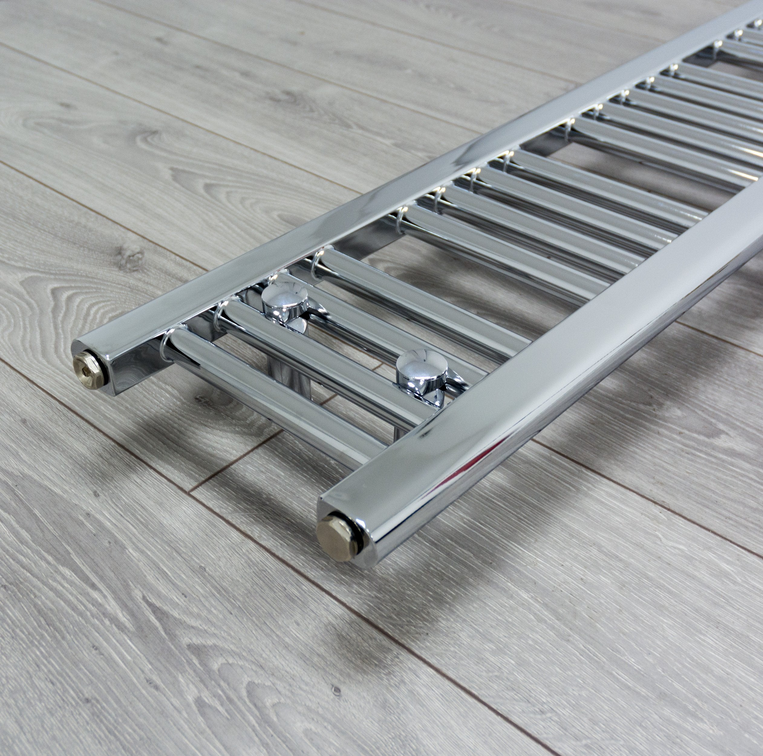 250mm Wide 1800mm High Flat Chrome Heated Towel Rail Radiator
