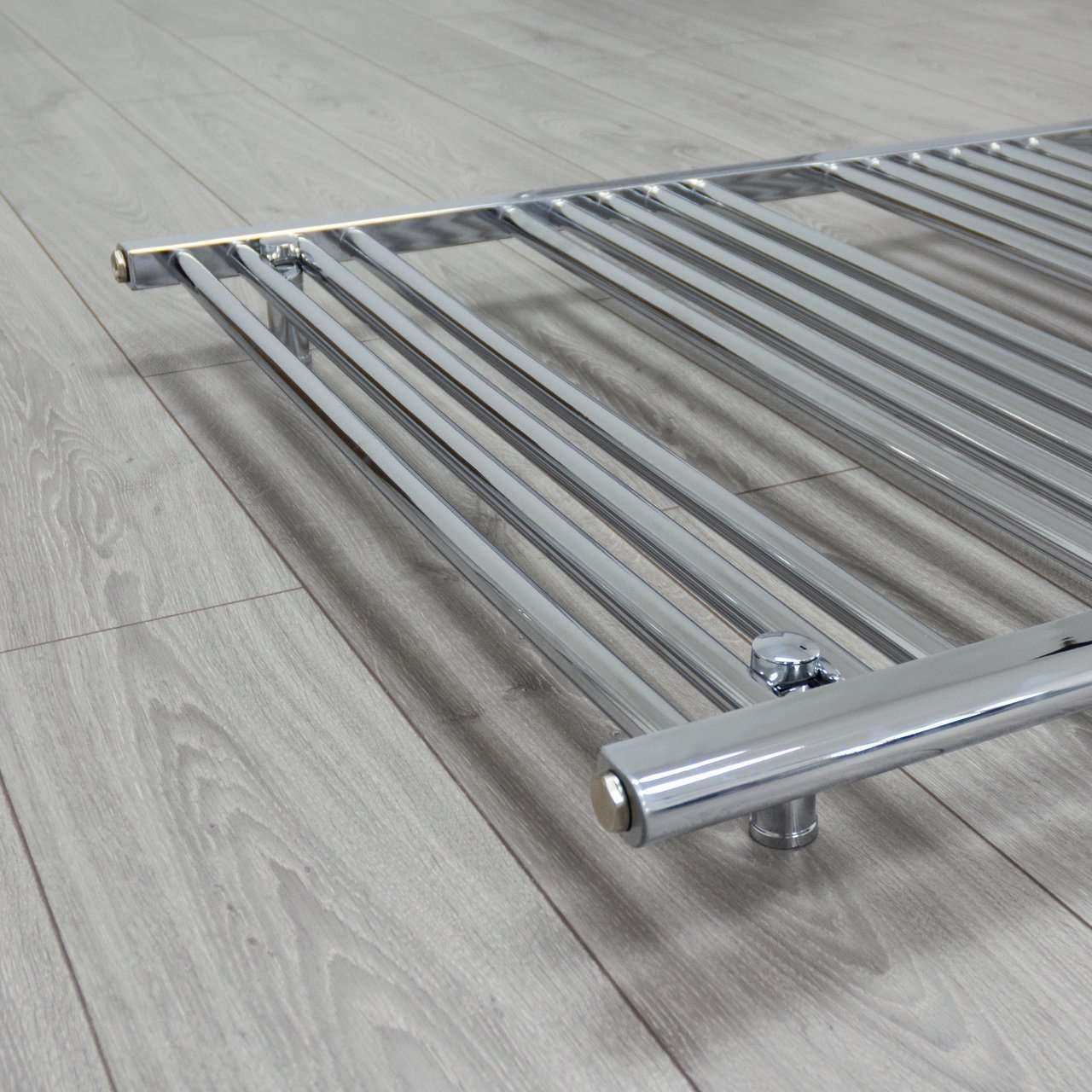 750mm Wide 1300mm High Flat Chrome Heated Towel Rail Radiator HTR