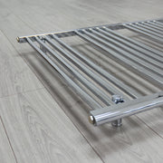 650mm Wide 400mm High Flat Chrome Heated Towel Rail Radiator HTR