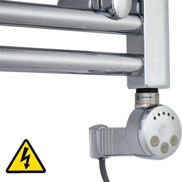 MEG Chrome Thermostatic Heating Element - For Electric Heated Towel Rail Radiator