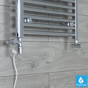 Chrome Single Heat Dual Fuel Kit For Heated Towel Rail Radiator