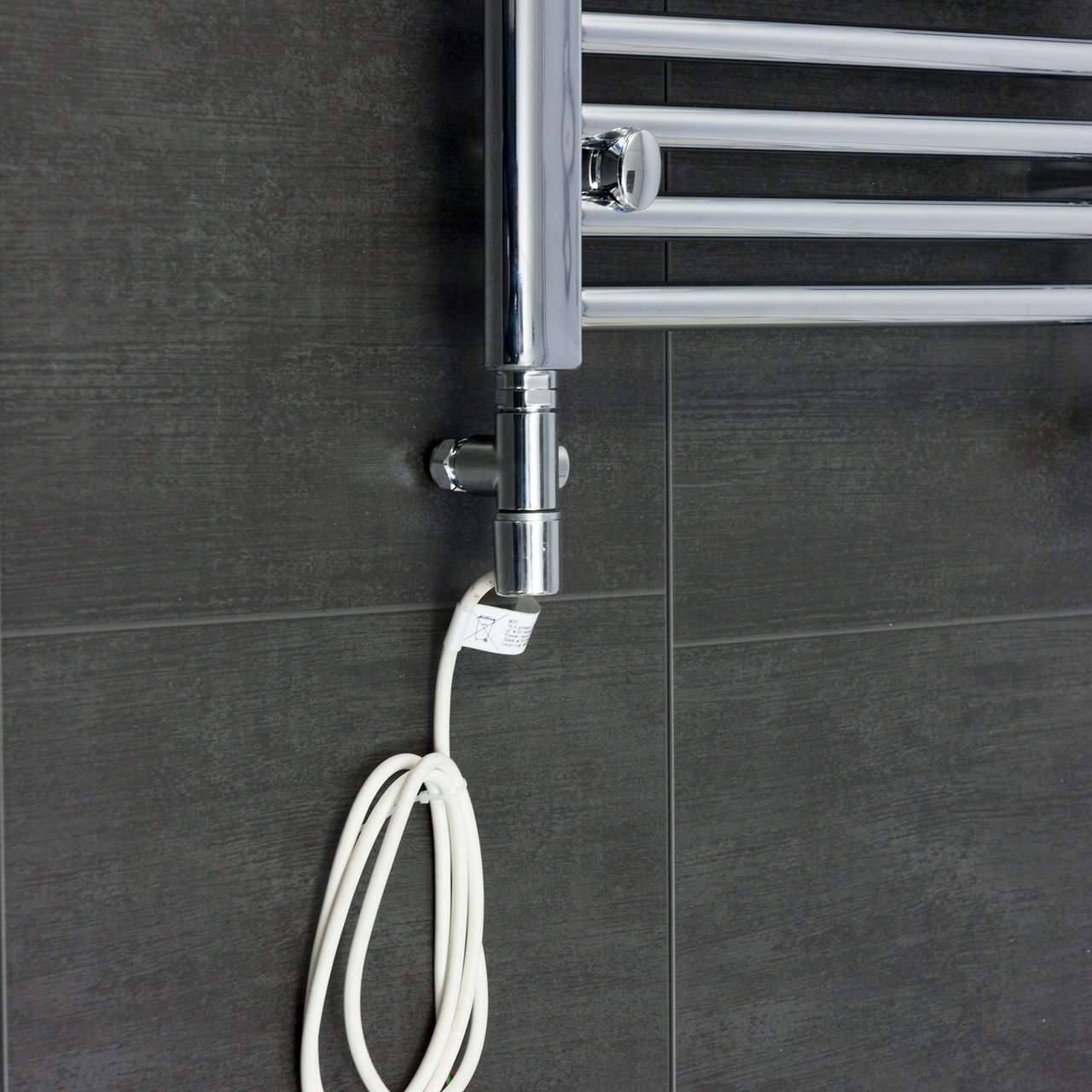 Single Heat Dual Fuel Kit with Corner Valve For Heated Towel Rail Radiator