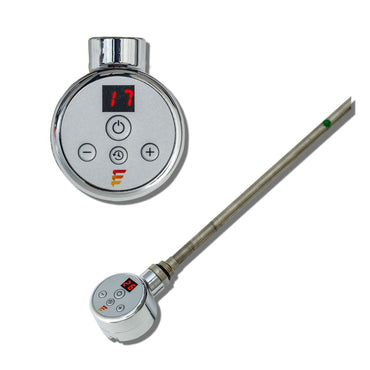 SUN-DIGI Chrome Thermostatic Heating Element For Heated Towel Rail Radiator