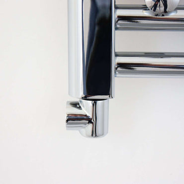 Chrome L-Piece Dual Fuel Adaptor Elbow for Heated Towel Rail Radiators