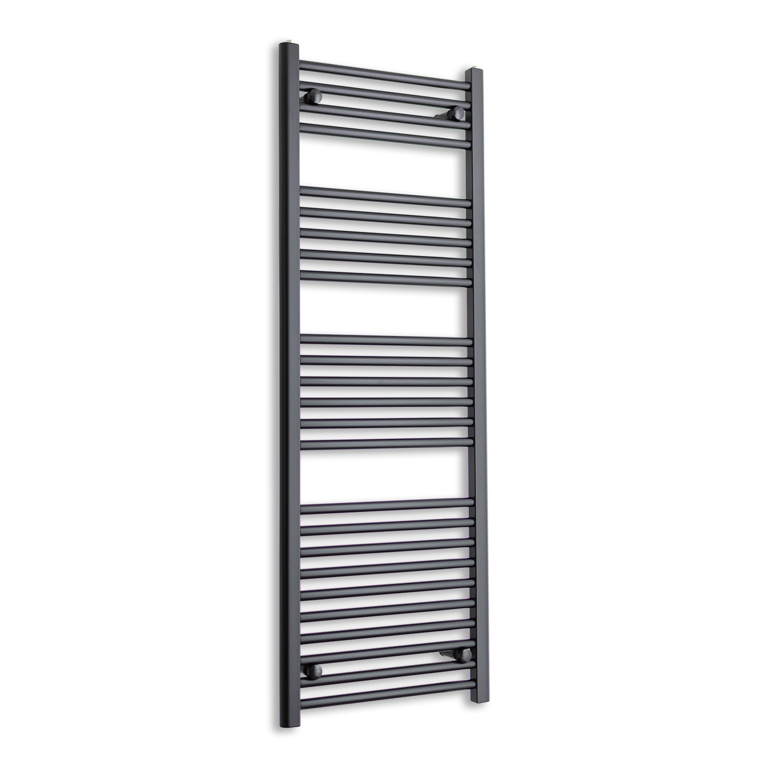 600mm Wide 1400mm High Flat Black Heated Towel Rail Radiator,Towel Rail Only
