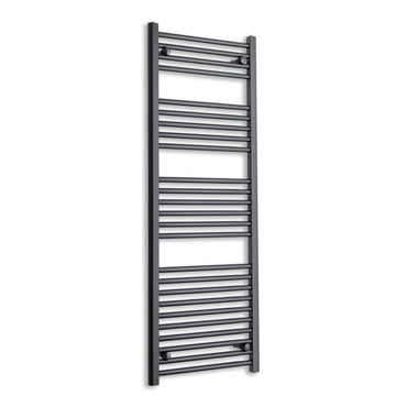450mm Wide 1400mm High Flat Black Heated Towel Rail Radiator,Towel Rail Only