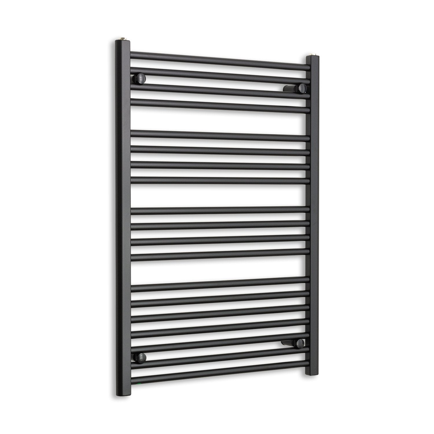 700mm Wide 1000mm High Flat Black Heated Towel Rail Radiator HTR,Towel Rail Only