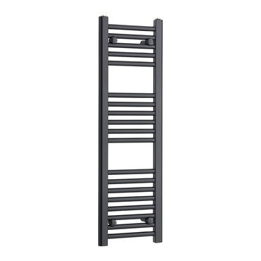 300mm Wide 1000mm High Flat Black Heated Towel Rail Radiator,Towel Rail Only