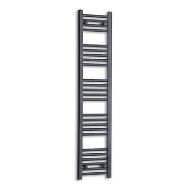 300mm Wide 1400mm High Flat Black Heated Towel Rail Radiator,Towel Rail Only
