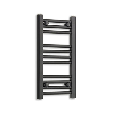 300mm Wide 600mm High Flat Black Heated Towel Rail Radiator,Towel Rail Only