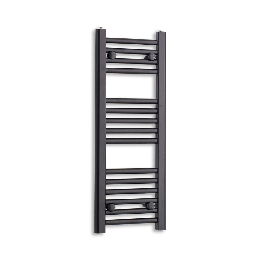 300mm Wide 800mm High Flat Black Heated Towel Rail Radiator HTR,Towel Rail Only
