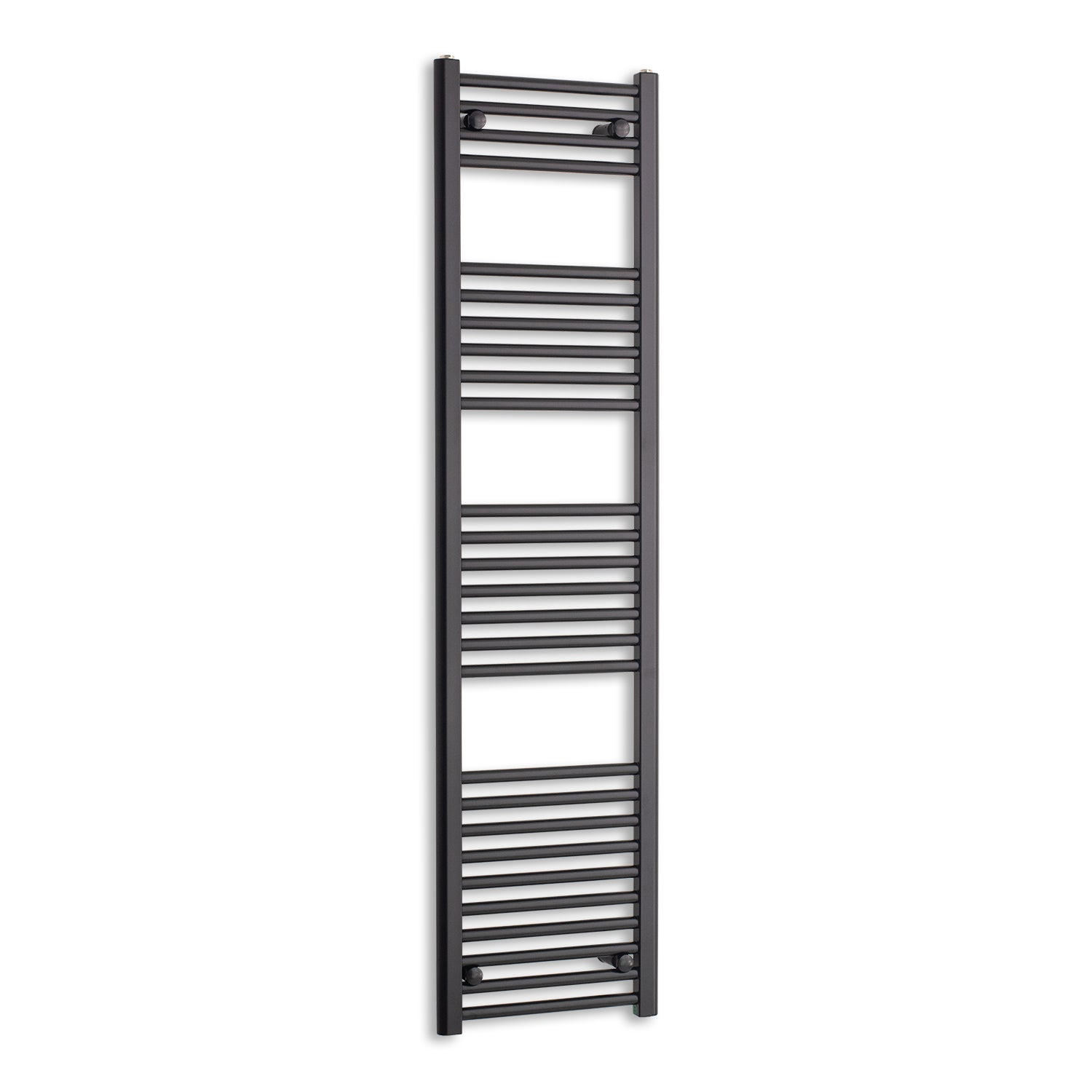 400mm Wide 1600mm High Flat Black Heated Towel Rail Radiator,Towel Rail Only