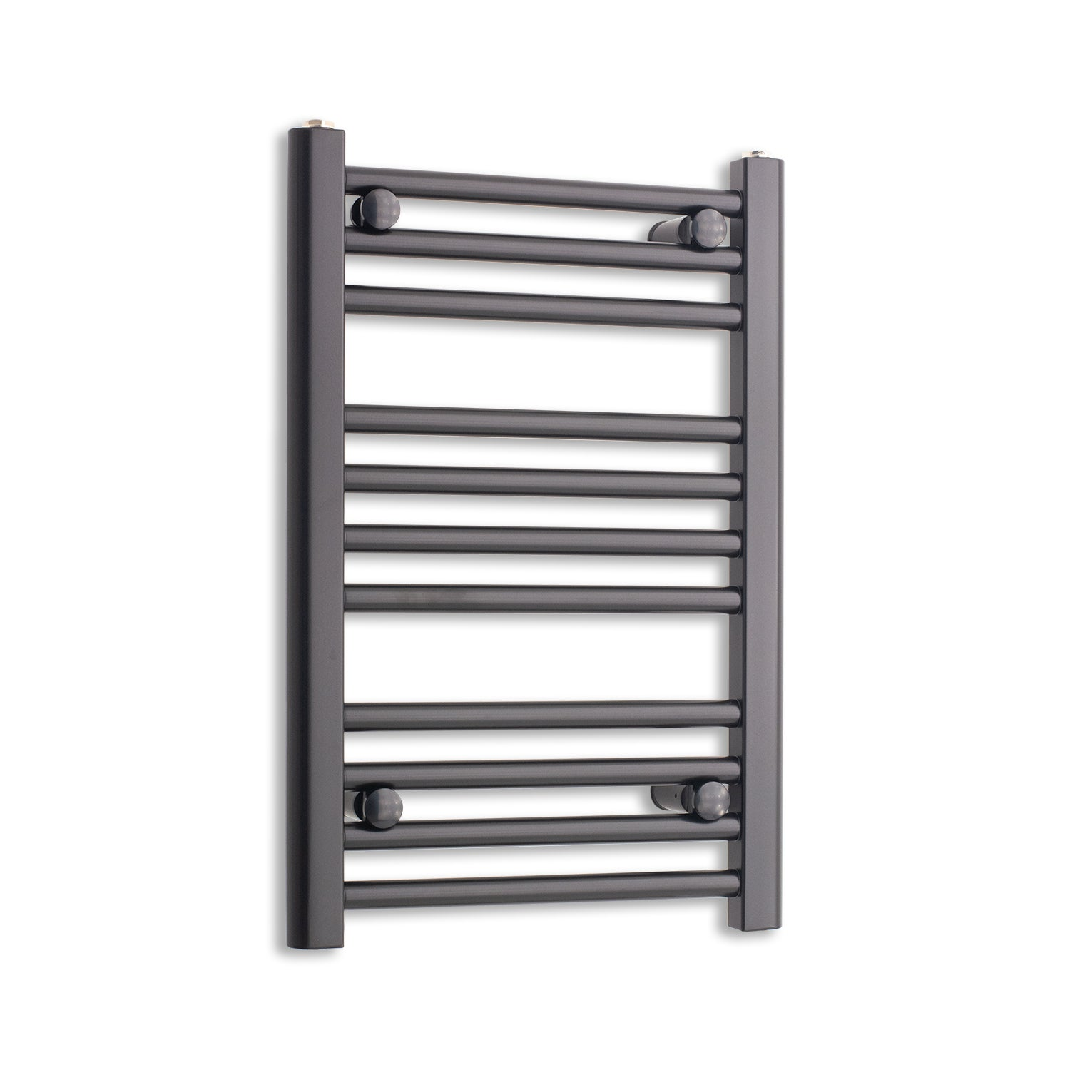 400mm Wide 600mm High Flat Black Heated Towel Rail Radiator,Towel Rail Only