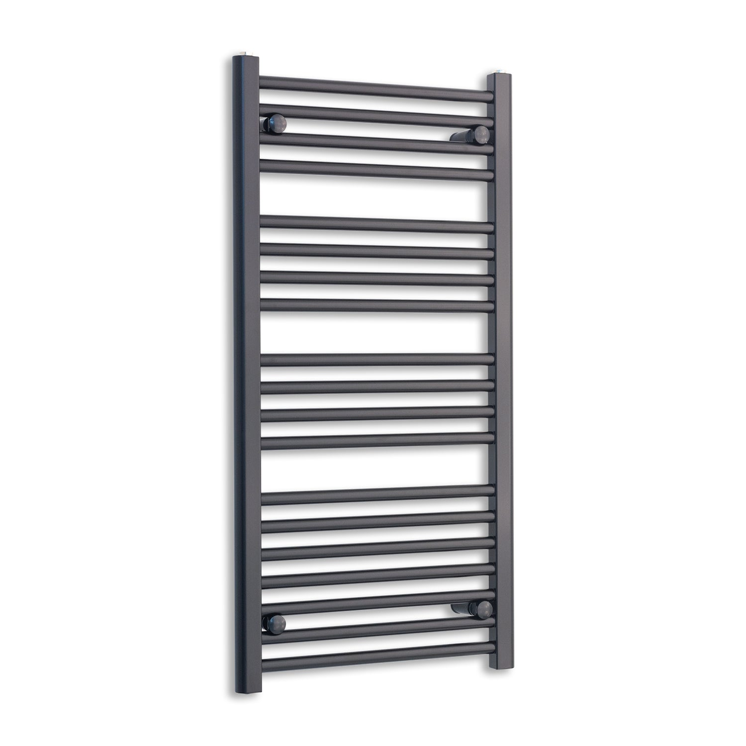 600mm Wide 1000mm High Flat Black Heated Towel Rail Radiator,Towel Rail Only