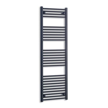 450mm Wide 1600mm High Flat Black Heated Towel Rail Radiator,Towel Rail Only
