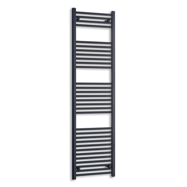 450mm Wide 1800mm High Flat Black Heated Towel Rail Radiator,Towel Rail Only