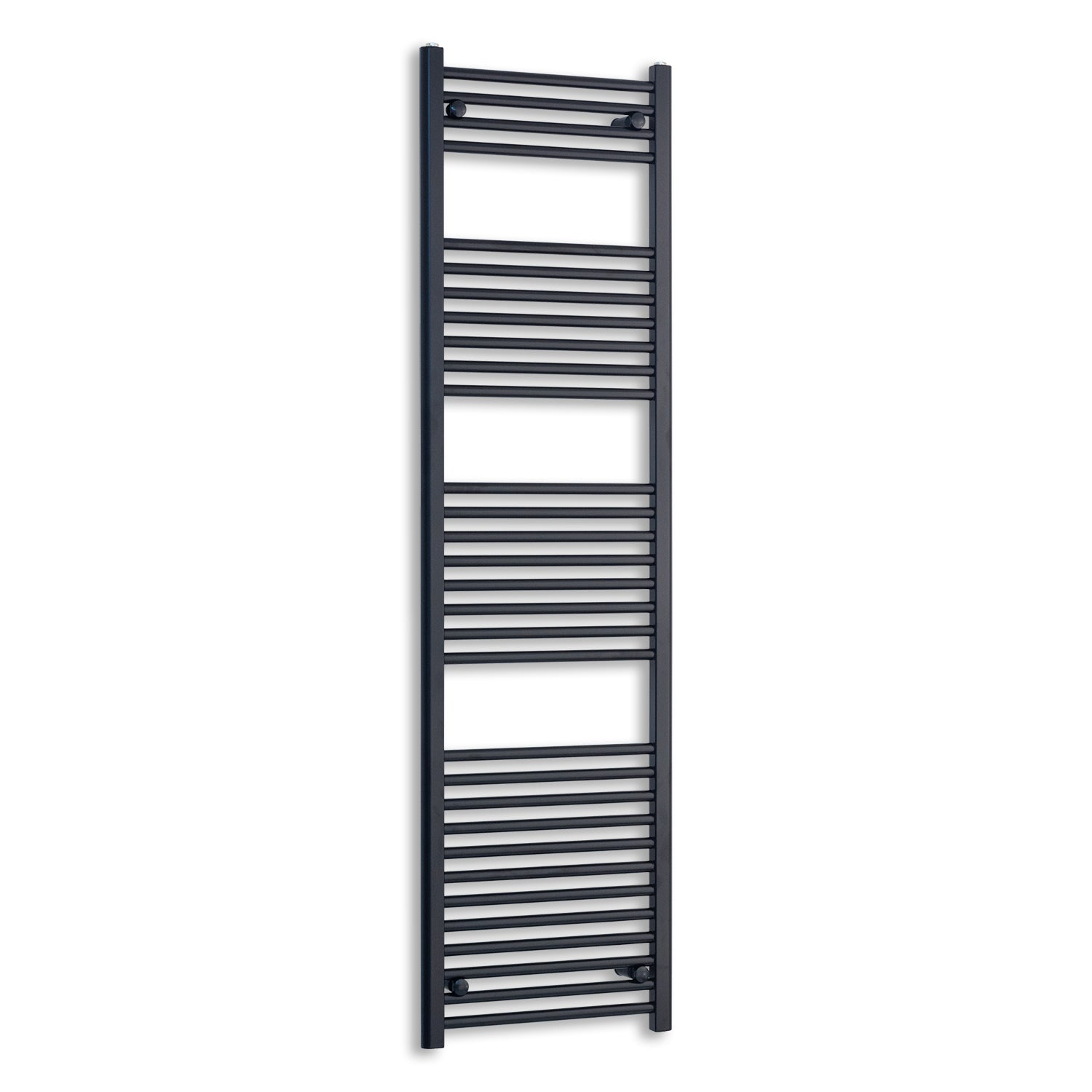 600mm Wide 1800mm High Flat Black Heated Towel Rail Radiator,Towel Rail Only