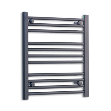 500mm Wide 600mm High Flat Black Heated Towel Rail Radiator HTR,Towel Rail Only