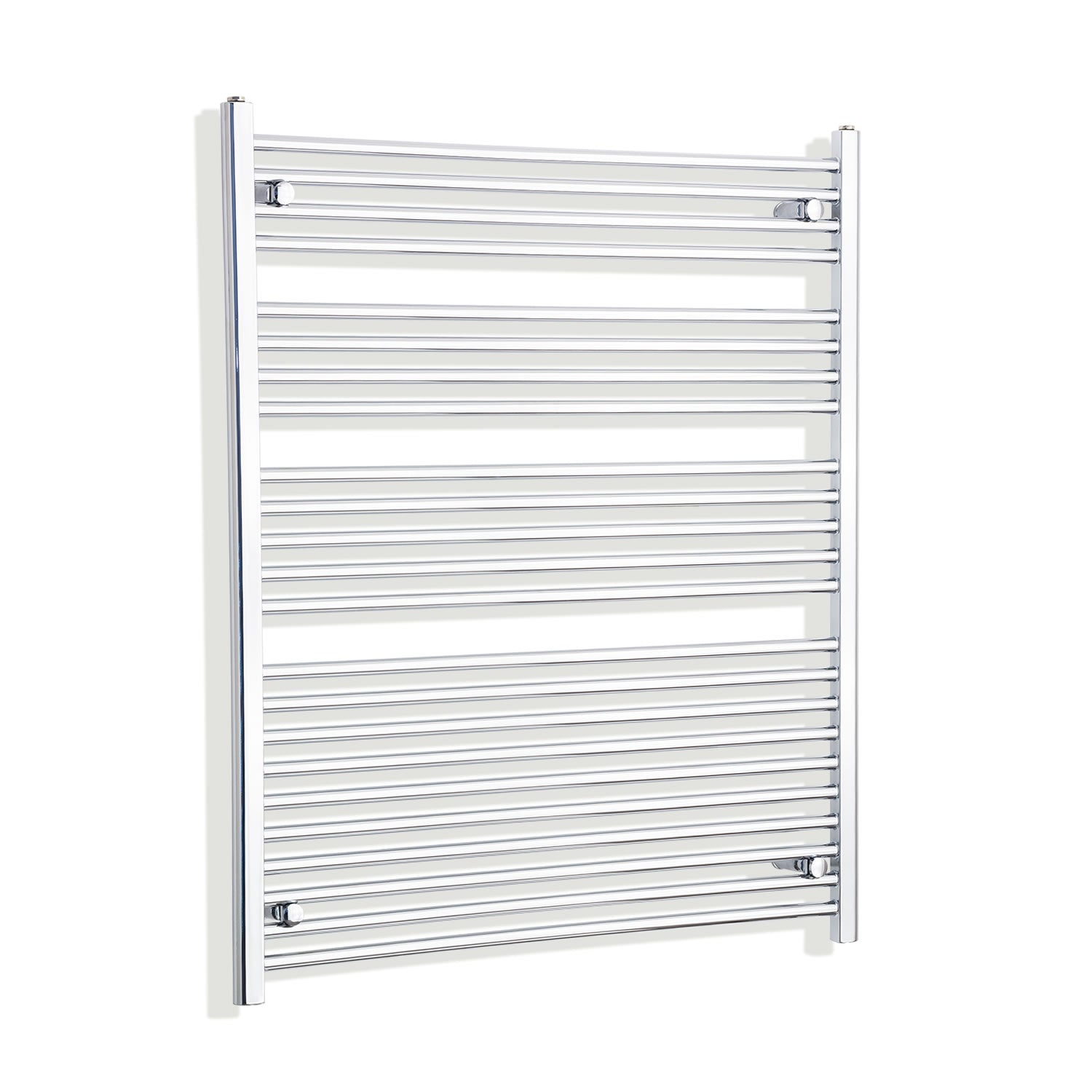 950mm Wide 1200mm High Flat Chrome Heated Towel Rail Radiator HTR,With Straight Valve