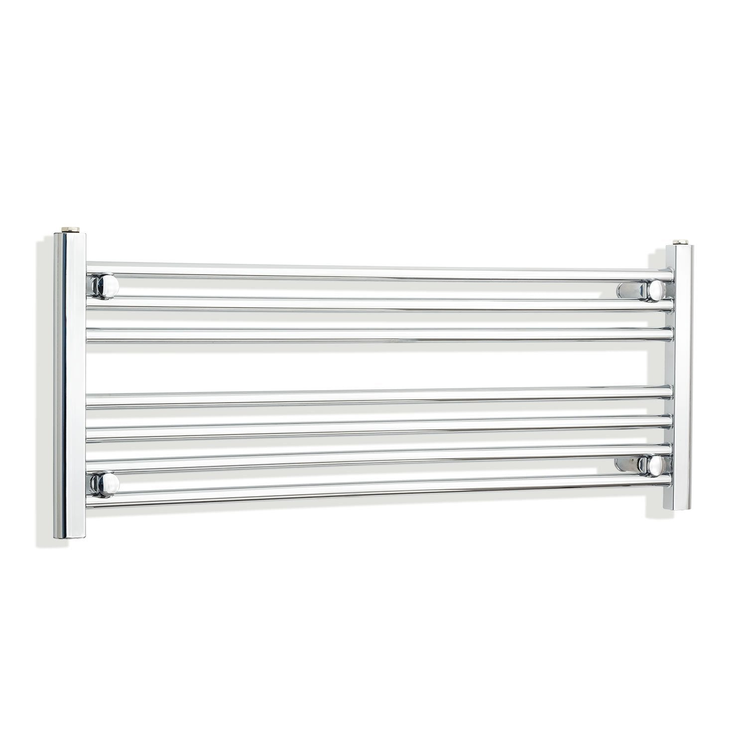 1100mm Wide 400mm High Flat Chrome Heated Towel Rail Radiator HTR,With Straight Valve