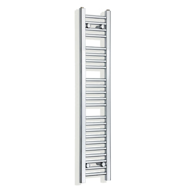 250mm Wide 1200mm High Flat Chrome Heated Towel Rail Radiator,Towel Rail Only