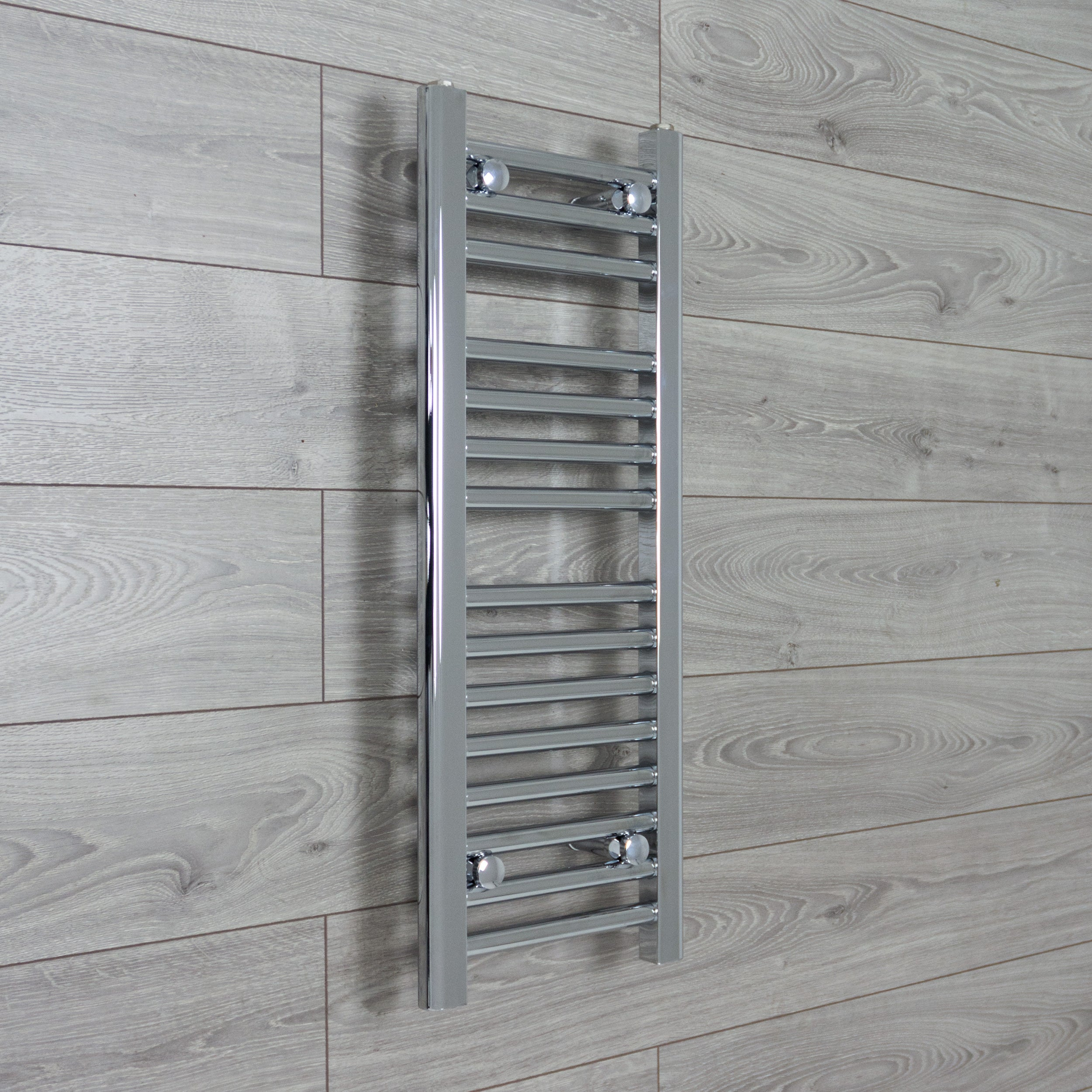 400mm Wide 800mm High Flat Chrome Heated Towel Rail Radiator HTR,Towel Rail Only