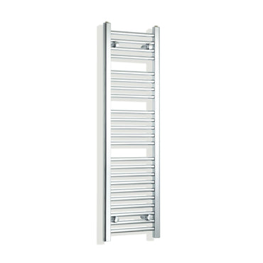 350mm Wide 1200mm High Flat Chrome Heated Towel Rail Radiator,Towel Rail Only