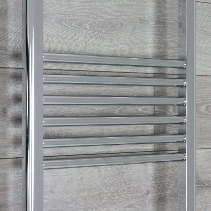 500mm Wide 1744mm High 25mm Tubes Straight Chrome Heated Towel Rail Radiator HTR